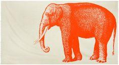 Elephant Scarf in Alcazar design by Thomas Paul | BURKE DECOR
