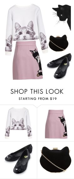 """""""cats"""" by amiraahmetovic ❤ liked on Polyvore featuring MSGM and New Look"""