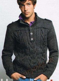 Офицерский пуловер спицами для настоящего мужчины. Обсуждение на LiveInternet - Российский Сервис Онлайн-Дневников