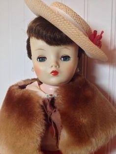 Belle Margie Doll 20 Inch Hard Plastic Vinyl Face Bent Knee Cissy Face Extras
