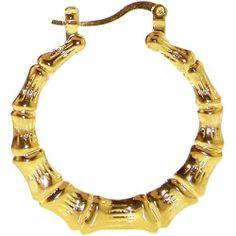 "1 1/2"" Bamboo Earrings, In Gold . $6.99"