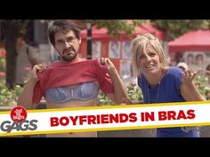 ▶ Boyfriends in Bras Prank - YouTube (1.52 min)