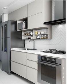 That beautiful inspiration from the clean kitchen By: @ … – Regular Clean Kitchen Cabinets Kitchen Design Small, Kitchen Cabinet Design, Kitchen Design Open, Kitchen Decor, Interior Design Kitchen, Interior Design Kitchen Small, Country Kitchen Designs, Kitchen Decor Apartment, Kitchen Design