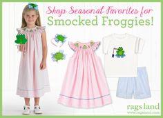 Our Vive La Fete Smocked Froggies Collection! Shop NOW at www.ragsland.com & follow Ragsland on Instagram!
