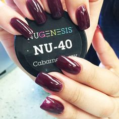 Make a statement with this bold, deep and rich nail color. Nugenesis nails- Cabarnet Sway
