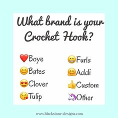 What brand is your crochet hook with emojis meme  #crochet #crochethook #crocheting #yarn #yarnaddict #boye #bates #clover #furls