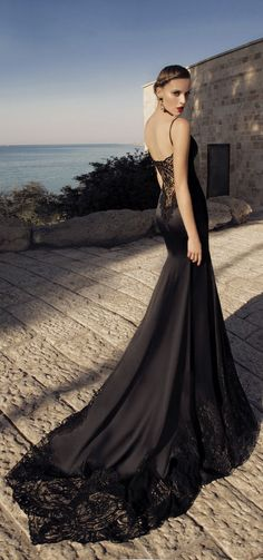 Sexy Black Evening Dresses – Galia Lahav Moonstruck 2014 Coll_chaisen - 美丽鸟