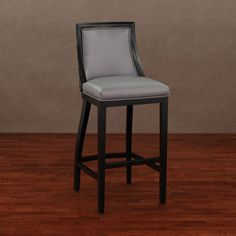 Park Avenue Black Croco/ Charcoal Leather Barstool