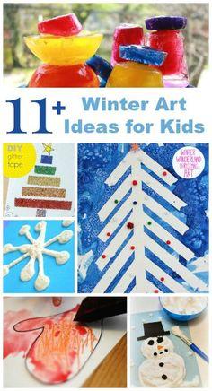 11+ Ideas for Winter Art for Kids