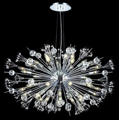 Buy the Worldwide Lighting Chrome Direct. Shop for the Worldwide Lighting Chrome Starburst 24 Light 1 Tier Chrome Chandelier with Clear Crystals and save. Chandeliers, Sputnik Chandelier, Chandelier Shades, Chandelier Lighting, Branch Chandelier, Ceiling Pendant, Foyer Decorating, Candelabra Bulbs, Home Interior