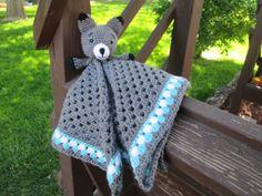Crochet Gray Heather Aruba Sea White Fox by SugarandSpiceKate, $20.00