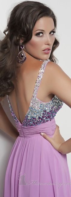 Sequined Gown by Jasz Couture #back #lilac #dress ♥