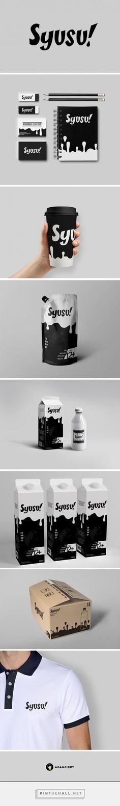 Milk branding and packaging. designer : Azam Fikry - created via https://pinthemall.net