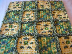 John Deere Baby Boy Rag Blanket... Great Gift for Ryland! :)