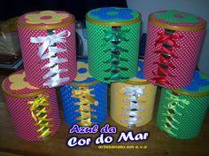 latas decoradas com fita - Pesquisa Google