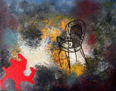 Gallery of Paintings of Greek artist Christina Michalopoulou. Contemporary, figurative, photorealistic forms in abstract enviroments. My Works, Oil On Canvas, Paintings, Contemporary, Chair, Abstract, Acrylics, Gallery, Artist