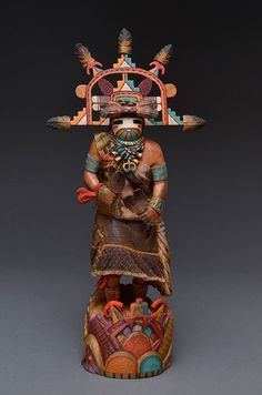 """Water Maiden"" Kachina Doll by Kevin Pochoema (Hopi)"