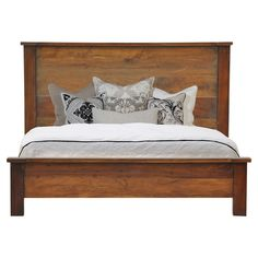 Rustic Style Planks Bed