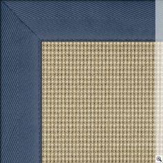 Sisal Sahara Rug. Border: Cotton Herringbone / Blue Rugs On Carpet, Carpets, Rug Store, Natural Rug, Rugs Online, Sisal, Floor Rugs, Herringbone, Colours