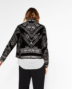 JACKET WITH METALLIC EMBROIDERY-Jackets-OUTERWEAR-WOMAN | ZARA United States