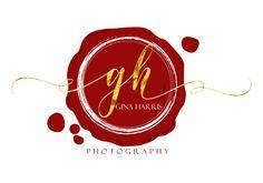 Custom Logo design red gold logo photography seal wax by HappyLogo
