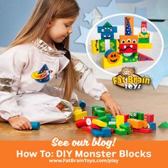 Read all about painting furry monstery growly bits to monsterify your building blocks! Get as silly or scary as you (and your kids) want!