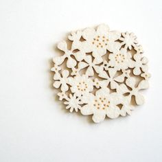 Flower Coasters Set of 4 - White