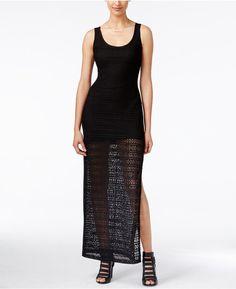 GUESS Crochet Sleeveless Maxi Dress