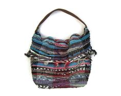 Vagabond Boho Shoulder Kilim Bag Large Fabric by maslinda on Etsy