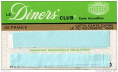 Diners Club France 1964