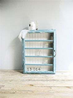 Repurposed Old Window Wooden Cabinet by lovintagefinds