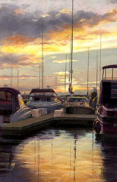 Kingston marina. Soft pastel. Kingston, Pastel, Paintings, Watercolor, Pen And Wash, Cake, Watercolor Painting, Paint, Painting Art