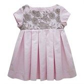 Pretty Pink Embroidered Bodice Dress Designer Chateau de Sable -