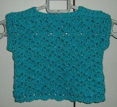 "22"" child's summer lacy sleeveless jumper ref 459 £7.00"