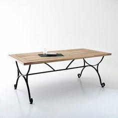 Table de jardin, acacia et fer forgé Féréol La Redoute Interieurs - Table de jardin