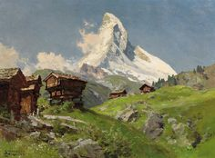 Edward Theodore Compton (1849 – 1921). View of the Matterhorn. Oil on canvas, 60 x 80 cm.