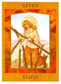The Goddess Tarot Deck - Seven of Wands