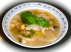 Diabetic Friendly Soup Recipe: White Soup.  This is a different approach to making a soup. It is a white soup. Predominantly white vegetables are used, might sound odd until you taste it. Yum! Click through to get your recipe.