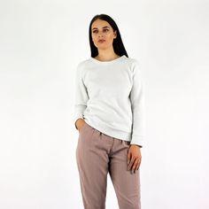 Glamorous Off White Fleece Inside Out Long Sleeve Sweatshirt Instore And Online www.pinkcadillac.co.uk