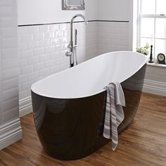 This freestanding bath by Milano will make a statement in any modern bathroom