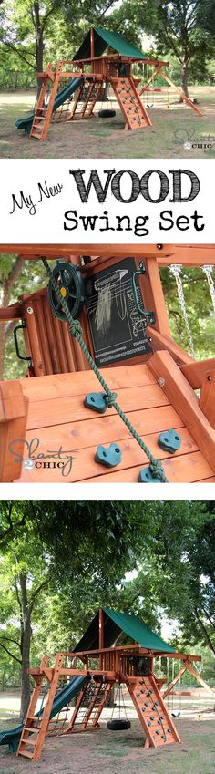 This wood swing set is the BOMB! Safe and affordable for such great quality!