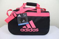 ADIDAS Diablo Small Duffel Sport Gym bag luggage Women Black 18.5