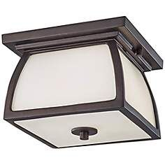 "Feiss Wright House 9"" Wide Bronze Outdoor Ceiling Light"