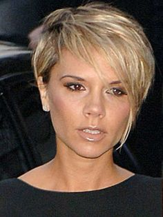 victoria beckham pixie cut blonde - Google Search More