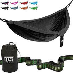 Best Deal Double Parachute Camping Hammock With Straps  Carabiners by Mad Grit *** Click image for more details.-It is an affiliate link to Amazon.