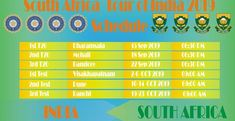 South Africa Tour of India Schedule, Fixtures, Squads, Live Score, Live Streaming South Africa Tours, Live Cricket Streaming, Ravindra Jadeja, Shikhar Dhawan, Scores, Schedule, Squad, India, Timeline