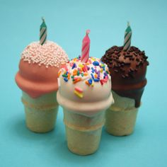 12 Ice Cream Cone Cake Pop Minis for Candy Land by SweetWhimsyShop