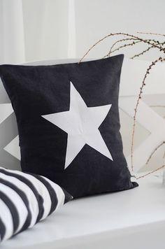 Pillow... star... blue