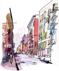 Image of Wooster Street, New York / Lucinda Rogers