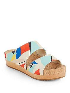 Alice + Olivia Brianna Printed Open-Toe Platform Sandals - Size 3